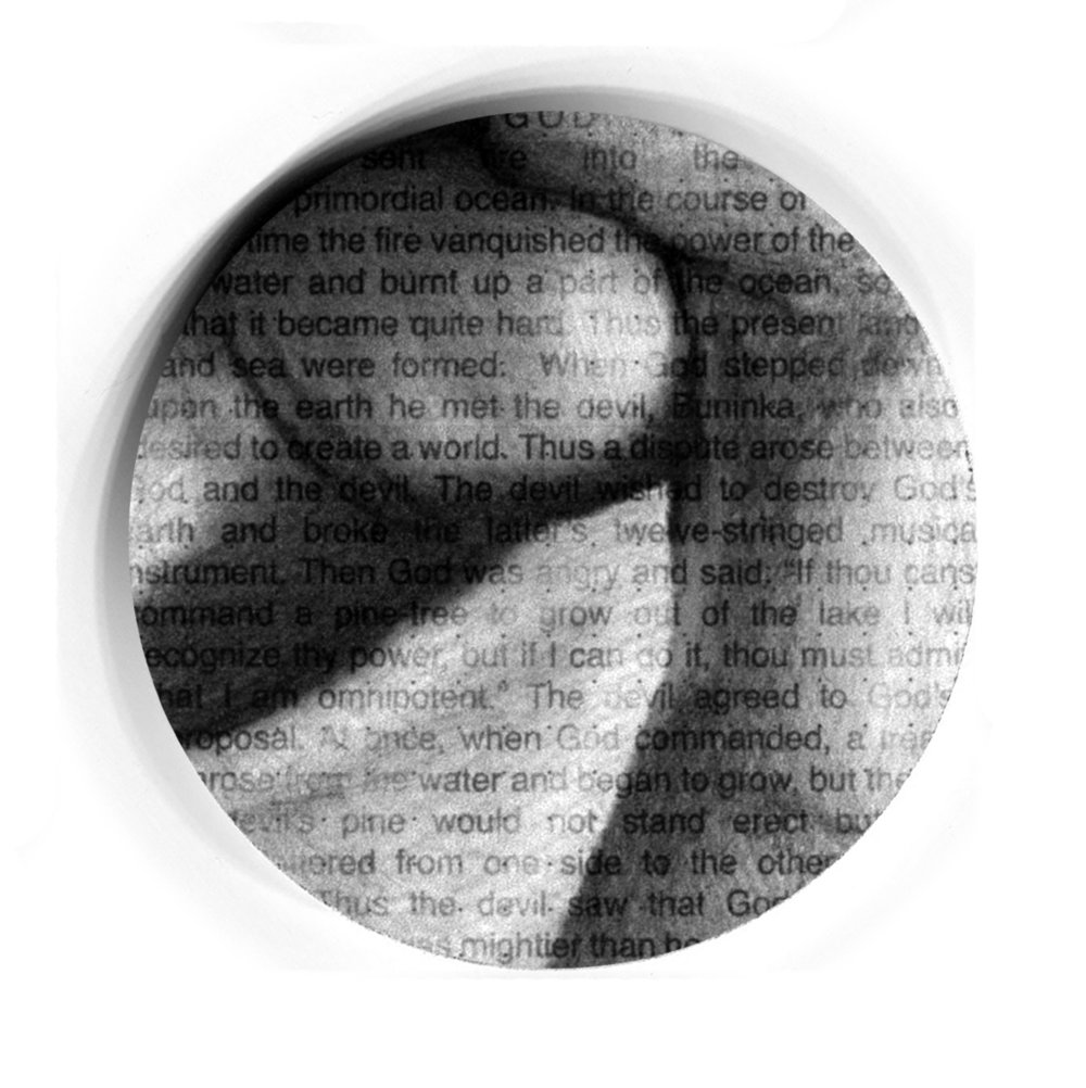 Pi    π , pencil and text drawings of every creation story I can find, 3 inch individual discs ©2014   Images   |   Statement