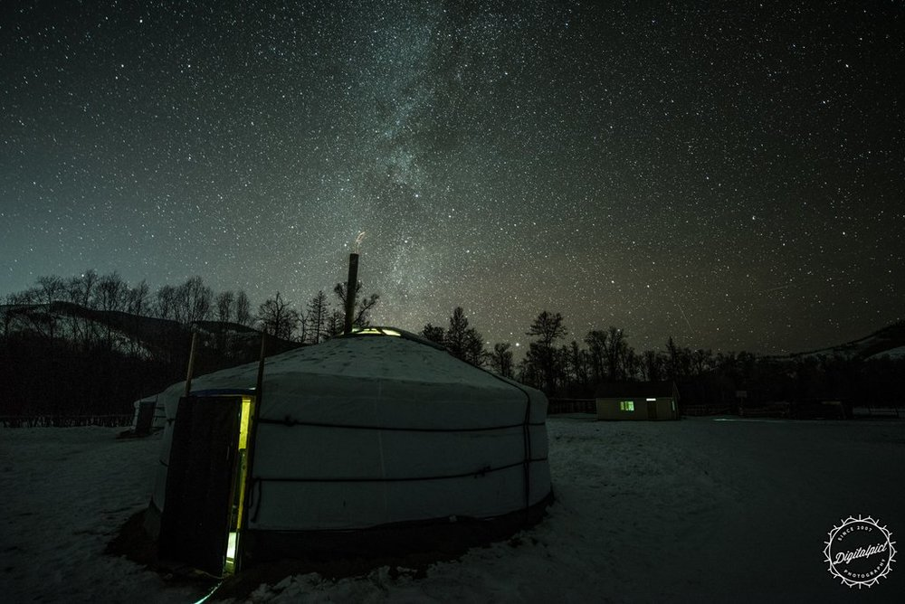 Star light at night in the ger camp. Photo by Johnny Graham,  Digitalpic t