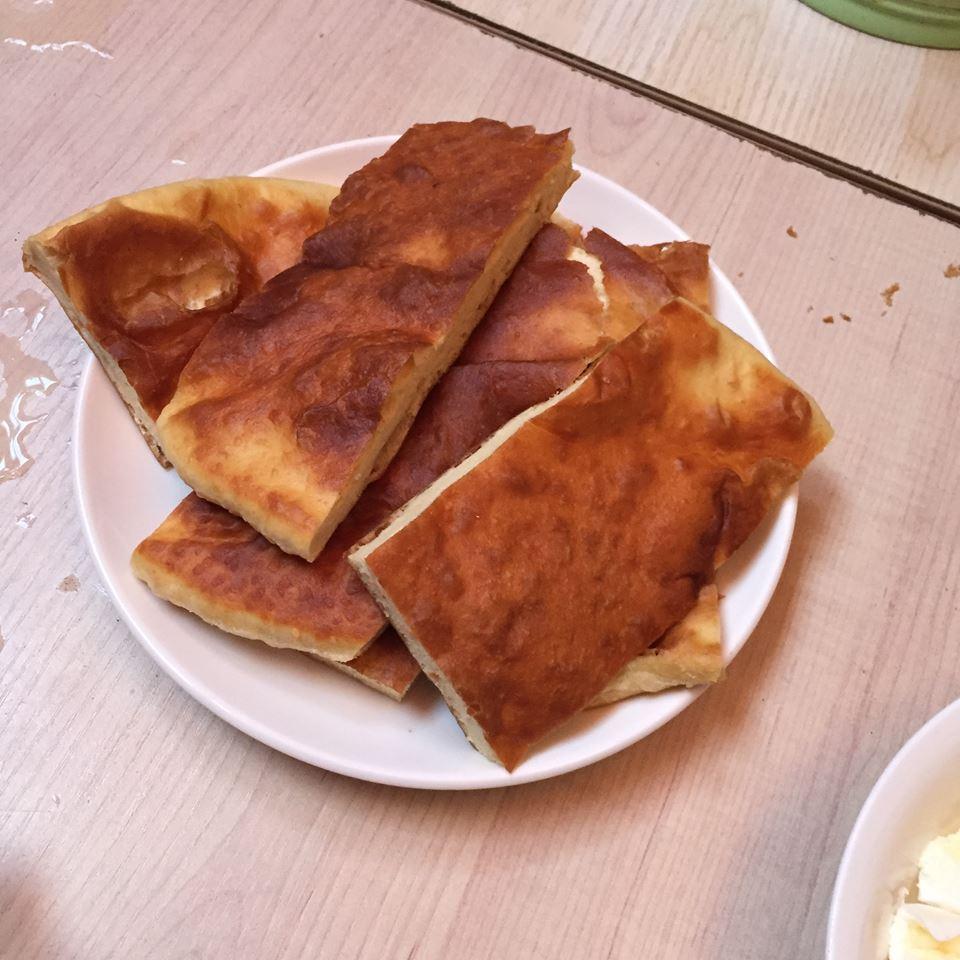 Flatbread breakfast...tasty :/ Photo: Shona