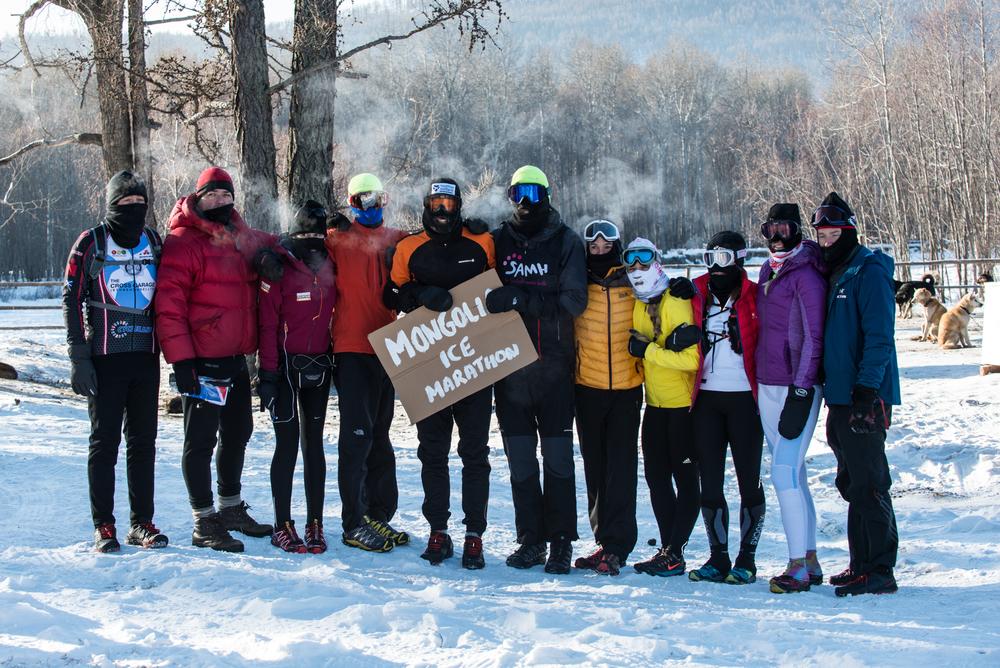 Marathon group - can you spot me? Photo: Johnny Graham, Digitalpict