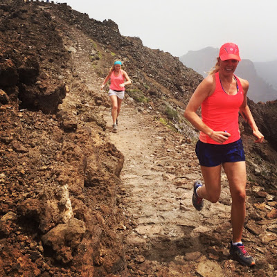 Fun run in La Palma - our girly holiday
