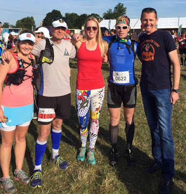 Race to the Stones 100km - Lucja and Dion came to support me