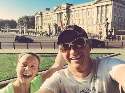 A morning London run with Dion - and an obligatory selfie