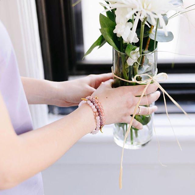 Spring fling 🌷#oviecreation #bracelet #mtl #handmade #spring