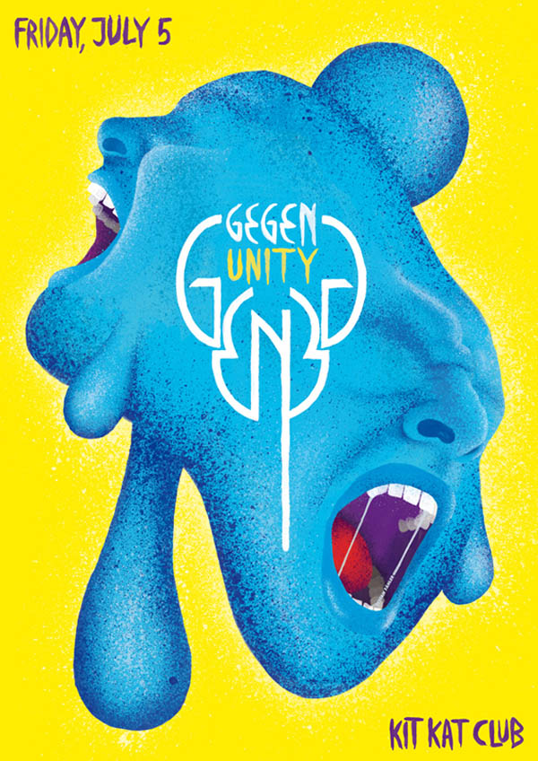 Stefan Fähler - Stefan Fähler is a freelance art director and illustrator working primarily in the music and film industries. He designs the ongoing flyer series for Gegen Berlin at Kit Kat Club.