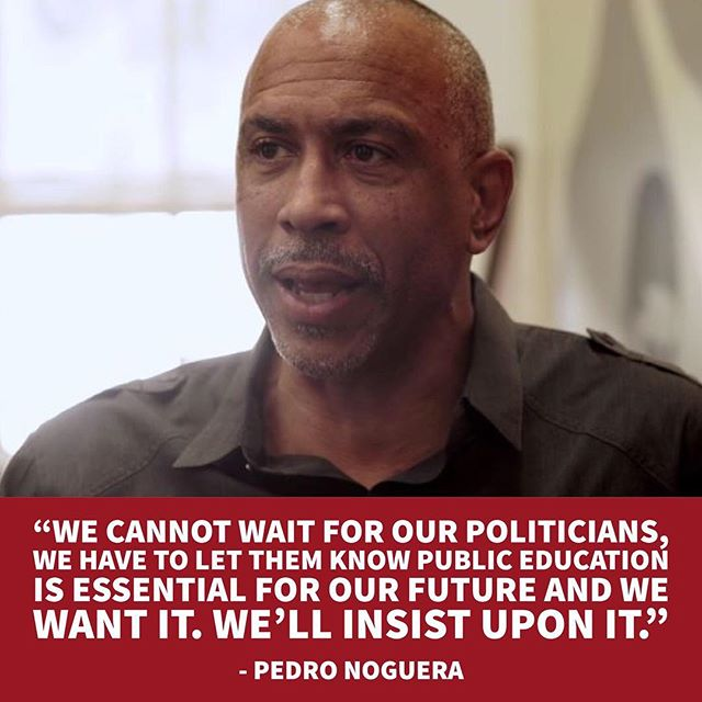 This quote by @PedroANoguera in #TeachUsAll sums it up perfectly... . The time is now. Join the movement. . teachusallfilm.org