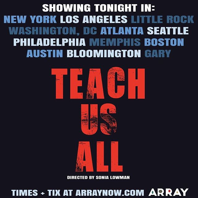 Tonight's the night! . JOIN THE MOVEMENT! #TeachUsAll 🙌🏻🙌🏽🙌🏿