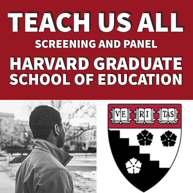 🎓TEACH US ALL is going to @HARVARD! 🎓 Join members of the Little Rock Nine, Little Rock Principal Jonathan Crossley, and #TeachUsAll director Sonia Lowman at @harvardeducation Thursday, Feb 8 for a screening and panel discussion!