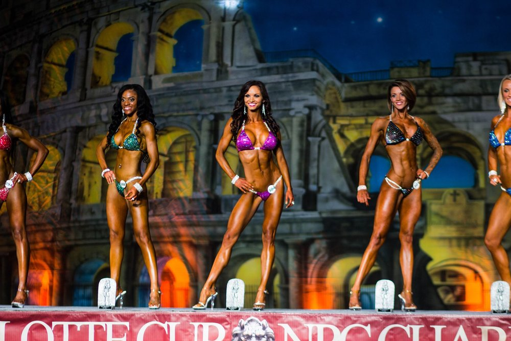 Christy Ann Charlotte Cup bikini Class Champion - Suit by CJ Elite Competition Suits.