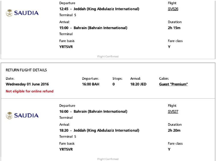 Saudia airlines boarding pass