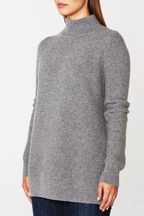 Bond Cashmere Sweater - Heather Gray — Scout Cashmere