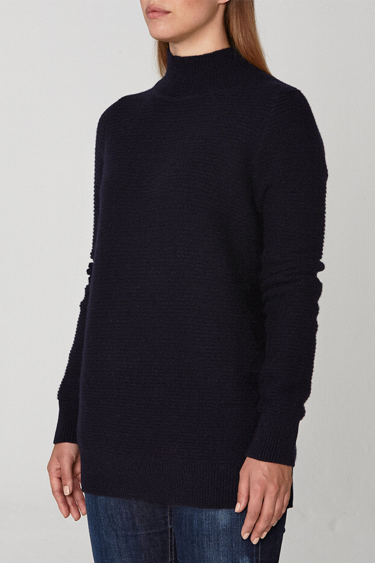 Bond Cashmere Sweater - French Navy — Scout Cashmere