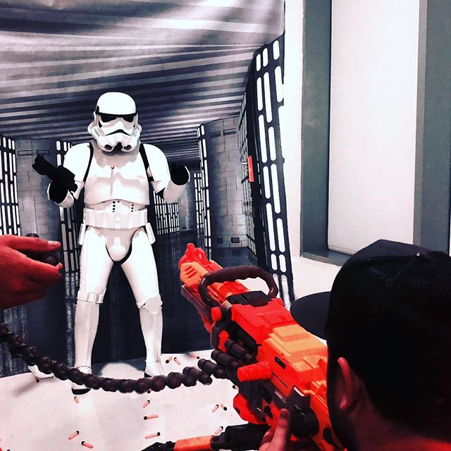 Shooting a stormtrooper #lifegoals #starwars