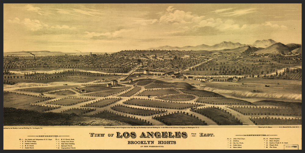 Los Angeles Basin, E.S. Glover - 1877