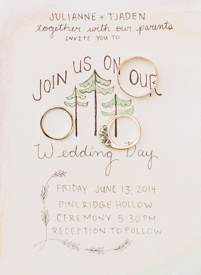 hand painted wedding invites