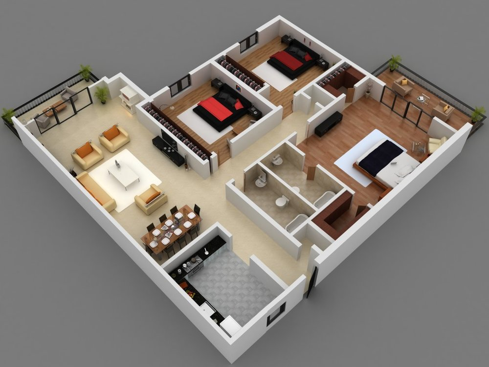 2D & 3D FLOOR PLANS - Invelop's sophisticated 3D technology is the ideal way to conceptualize any space.  We render 2D floor plans based off laser measurements the 3D cameras provide as we scan the space.  The ideal way to conceptualize a space!