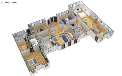 3D FLOOR PLANS - Every showcase can be converted into a 3D floor plan