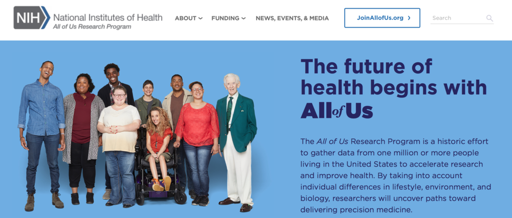 Visit https://allofus.nih.gov to read more about the project.