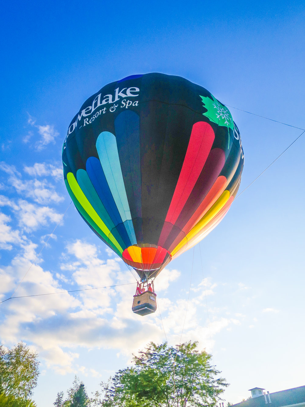 Husband-and-wife Base Pair Marc and Janet Williams take a hot air balloon ride at the David Smith Dysmorphology Meeting in Stowe,Vermont (2017)