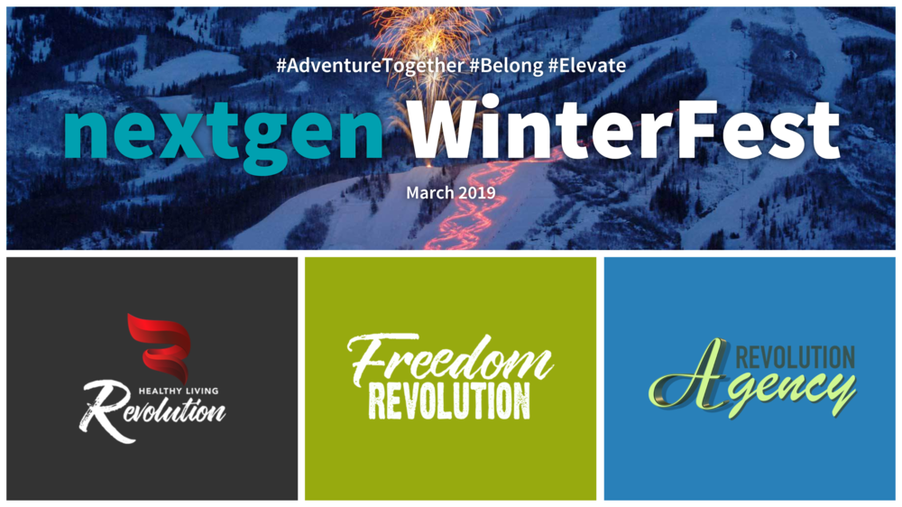 NextGen WinterFest March 15-17, 2019. #AdventureTogether #Belong #Elevate