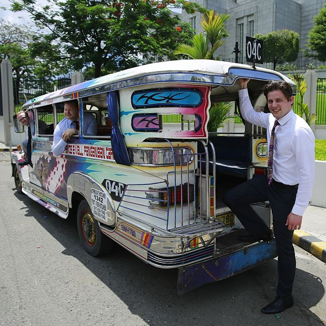 This is a Jeepney. It's a mix between an old hippy school bus and a jungle jeep. People use these every day in the Philippines. We commandeered one for a couple hours. It changed my life.