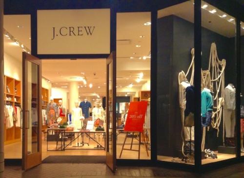 J CREW SALES DROP DUE TO RE-MERCHANDISING