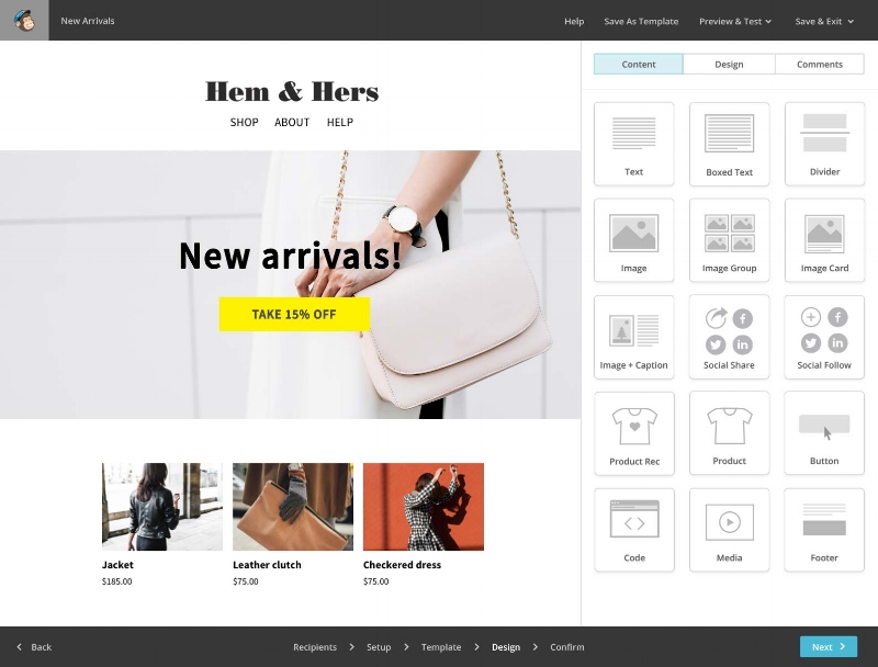 mailchimp for fashion businesses