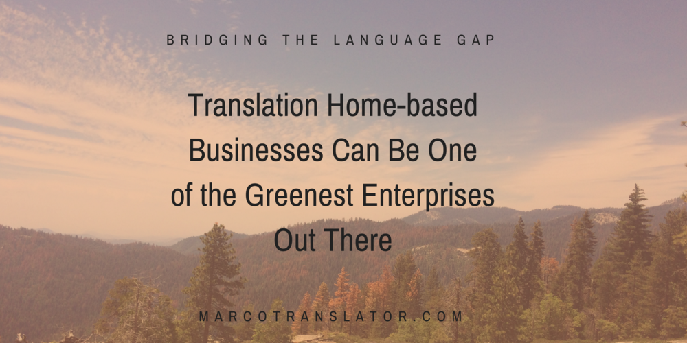 Translation green business in San Diego, California