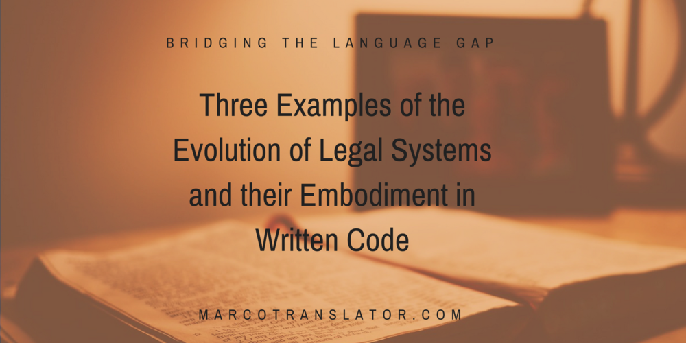 Legal systems and legal codes