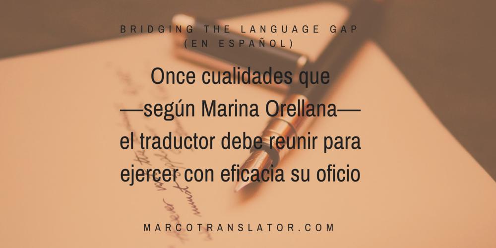 Traductora  de inglés a español Marina Orellana