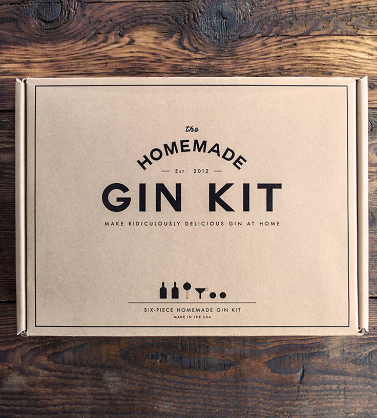 This Home Made Gin Kit is achieving minimalism, yet the box looks appealing. It's just a simple straight forward box. Good for protection and at an affordable price.