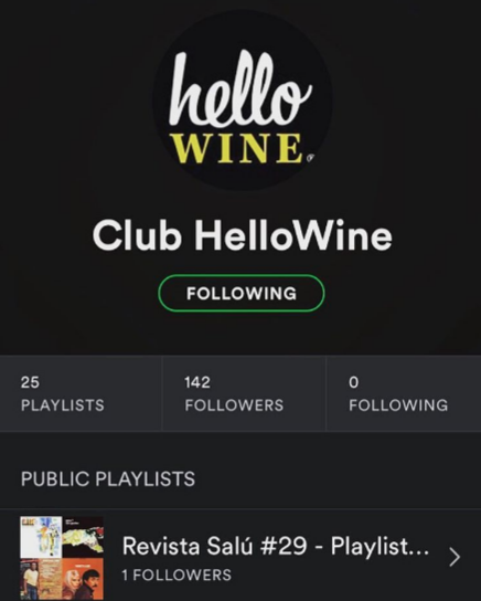 The Hello Wine Spotify list for wine tasting :)! How cool is that? These chilennians know about wine and making love to their customers.