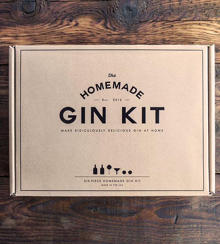 """Este Kit de Gin hecho es casa """"Home made Gin Kit"""" logra elegancia, simpleza y minimalismo. La caja exterior es una caja clásica """"autoarmable"""" con impresión a un color. Bam! Es un resultado barato y de buena protección"""