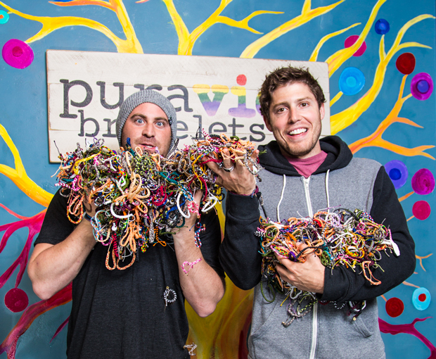CEO and CFO Griffin Thal and Paul Goodman from Pura Vida Bracelets