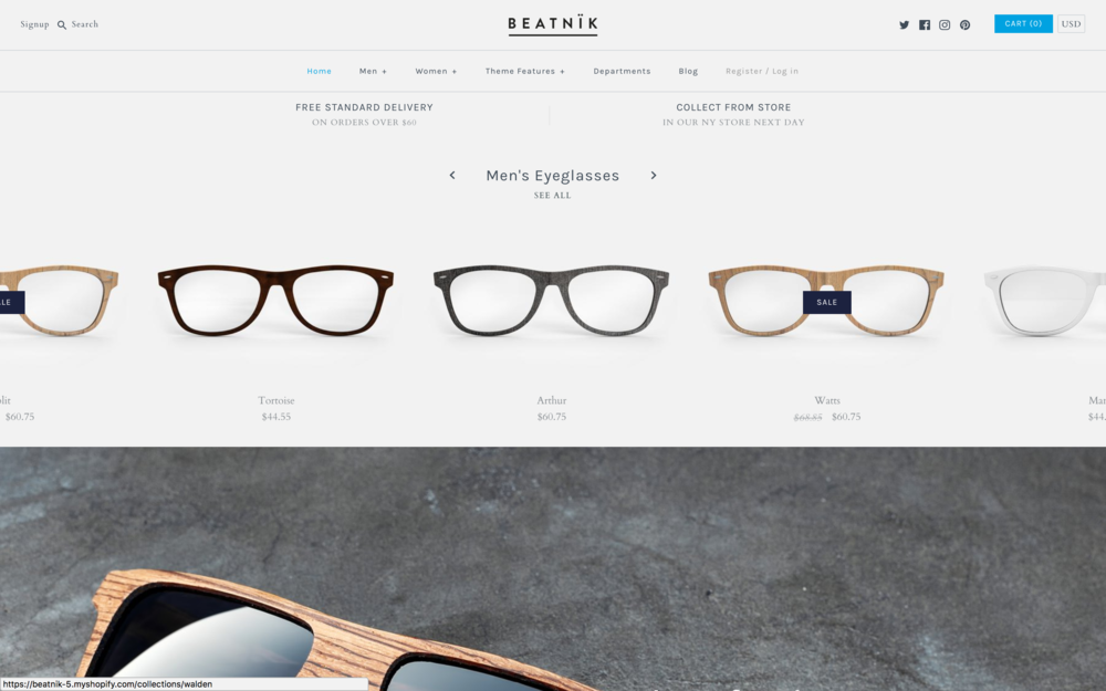 Beantnik Theme  best shopify themes