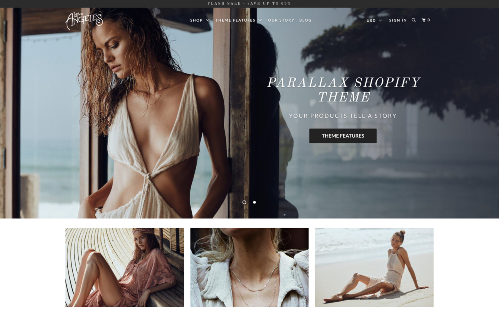 Parallax Theme  best shopify themes