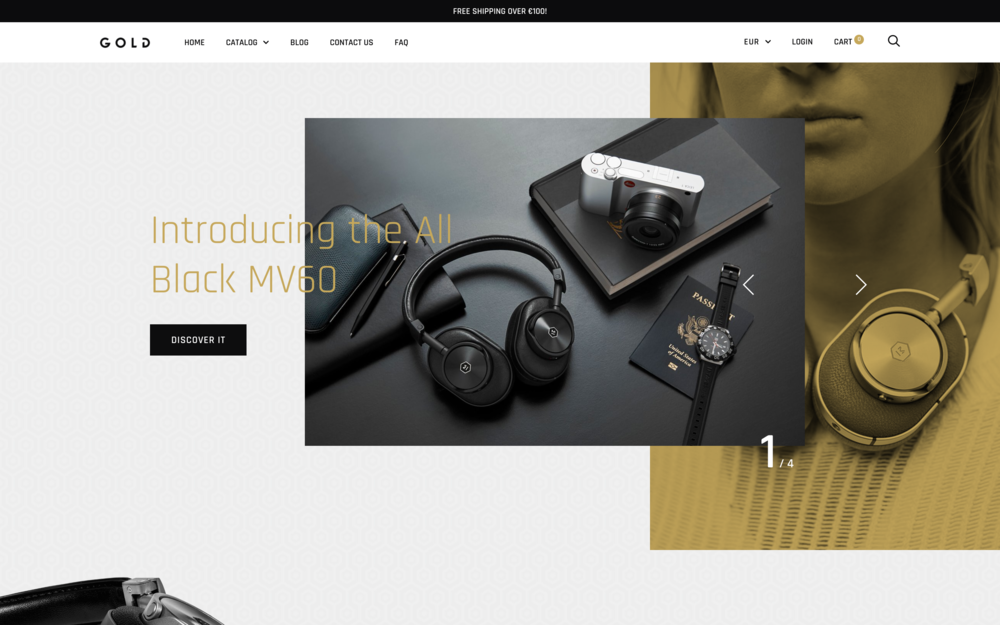Trademark theme Shopify