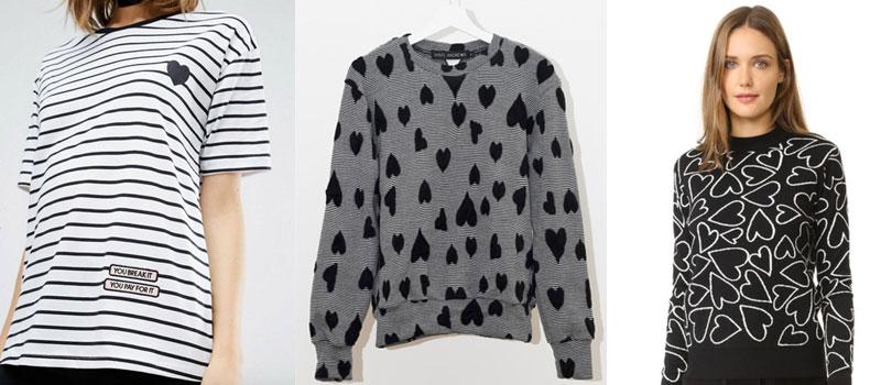 l to r:  t-shirt  |  jumper  |  sweater