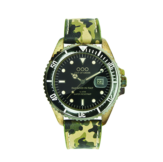 Out Of Order 40mm Quartz - Green Camo