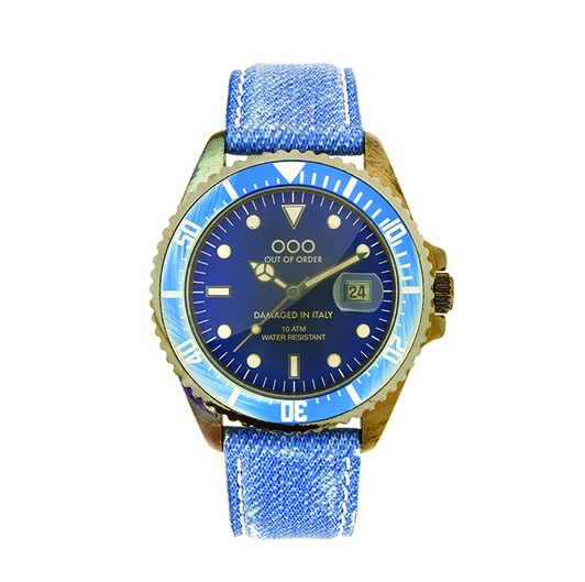 Out Of Order 40mm Quartz - Light Blue Jeans