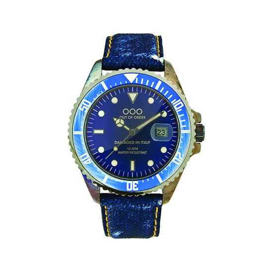 Out Of Order 40mm Quartz -  Dark Blue Jeans