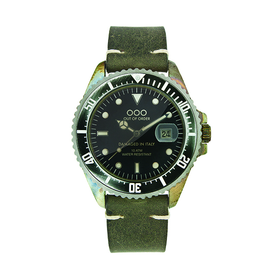 Out Of Order 40mm Quartz - Dark Green