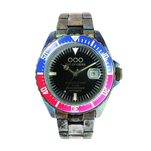 Out Of Order 44mm - Automatic Movement - Red and Blue
