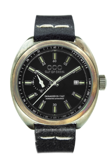 Out Of Order - Automatic Watch - Torpedine - Black