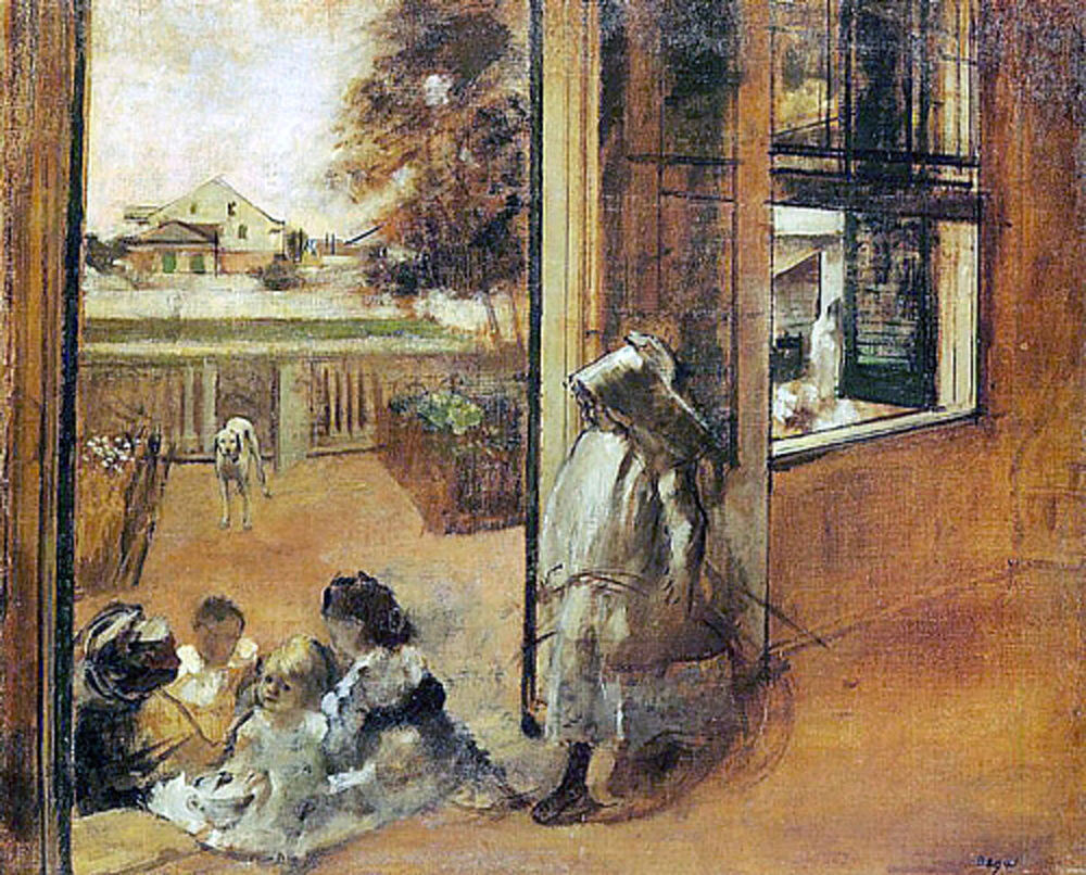 Degas, Children on Doorstep