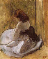 Degas, Young Girl in a White Dress