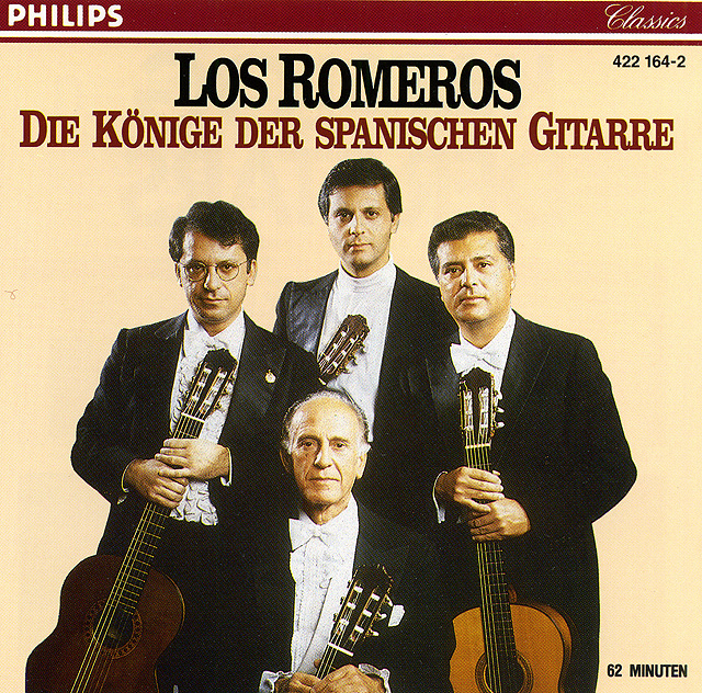Los Romeros: Die Könige der Spanischen Gitarre Recorded 1967, released on CD: Philips CD • Catalog no. 422 164-2