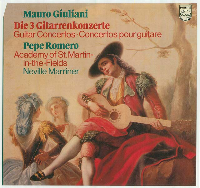 Mauro Giuliani: Guitar Concertos(Op.30, Op.36, Op.70, Op.65) (Pepe Romero, Academy of St. Martin-in-the-Fields, Neville Marriner) Re-release as box set Philips LP (set of 2) • Catalog no. 6770 012