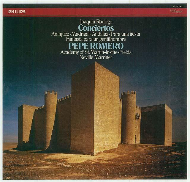 """Rodrigo: """"Concierto de Aranjuez""""; """"Fantasía para un gentilhombre""""; """"Concierto Madrigal"""" (Academy of St. Martin-in-the-fields, N. Marriner) Re-release on CD: Philips CD • Catalog no. 432-828-2"""