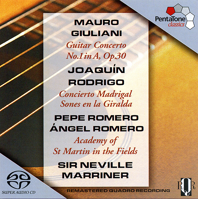 Giuliani Guitar Concert No.1 Rodrigo Concierto Madrigal Re-release 2004 on super audio CD: PentaTone • Catalog no. PTC 5186 141